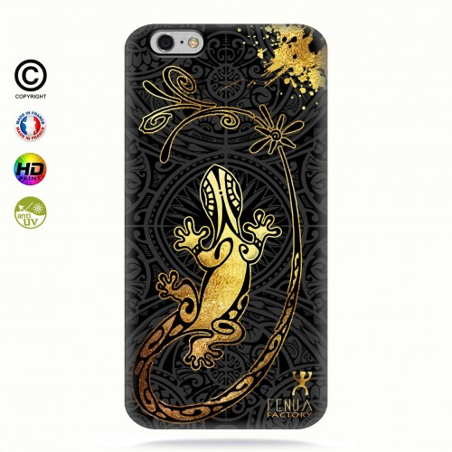 Coque iphone 6-6s Gecko Gold