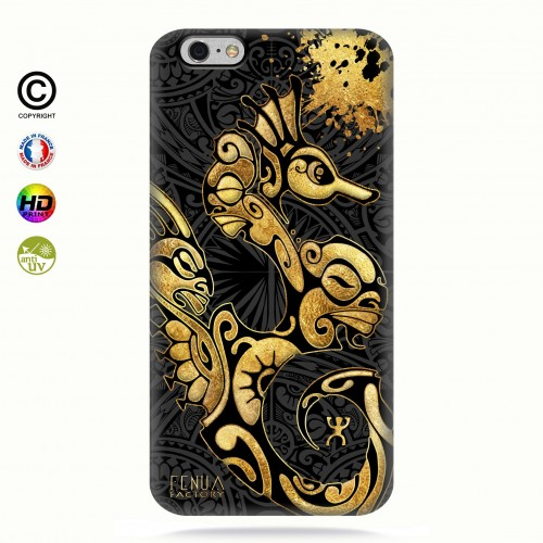 Coque iphone 6-6s Hippocampe Gold