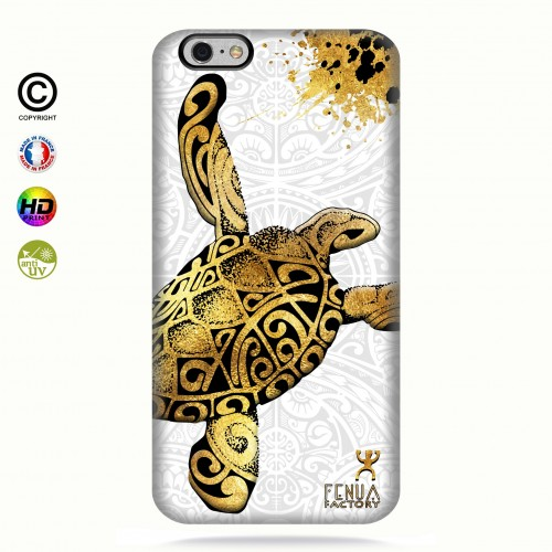 Coque iphone 6-6s Tortue Gold