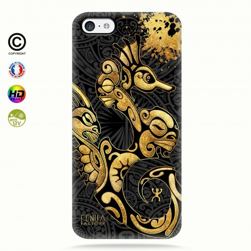 Coque iphone 5c Hippocampe Gold