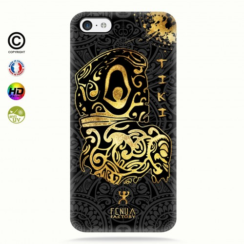 Coque iphone 5c Tiki Gold