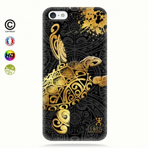 Coque iphone 5c Tortue Gold