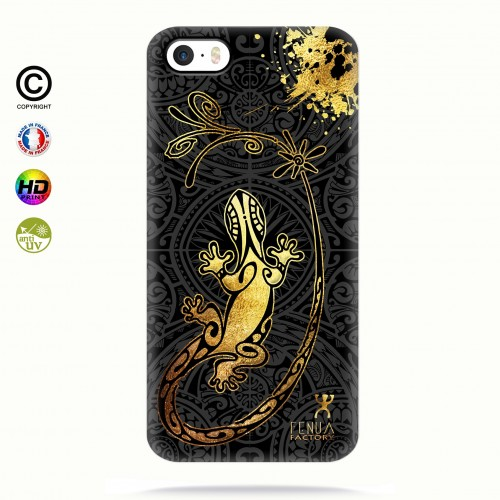 Coque iphone 5-5s-5se Gecko Gold