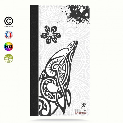Coque iphone 5c Dauphin B&W