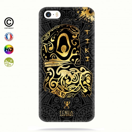 Coque iphone 5-5s-5se Tiki Gold
