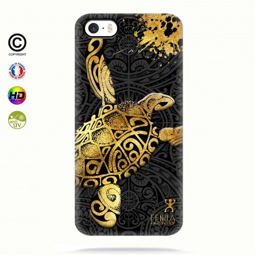 Coque iphone 5-5s-5se Tortue Gold