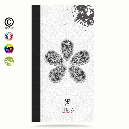 coque iphone 6+/6S+ B&W Skull flowers