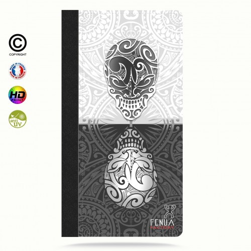 coque iphone 6+/6S+ B&W Skulls Mirror