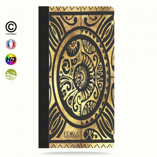 coque iphone 6+/6s+ tribal cube gold +