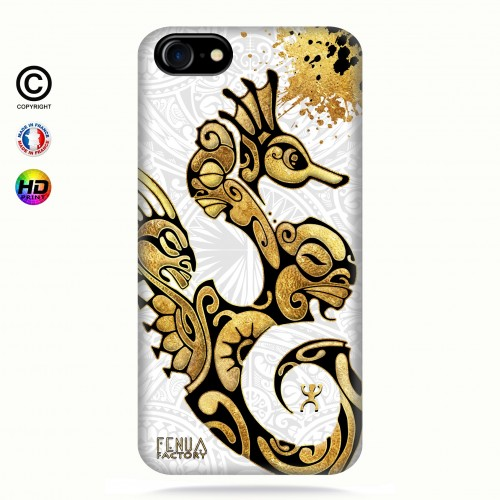 Coque iphone 7 Hippocampe Gold