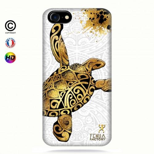 Coque iphone 7 Tortue Gold