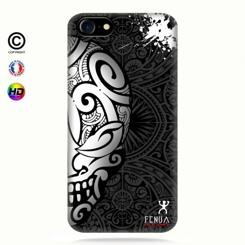 coque iphone 7 Mid B&W Skulls