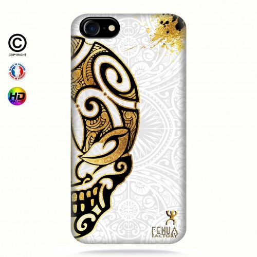 coque iphone 7 Mid Gold Skulls