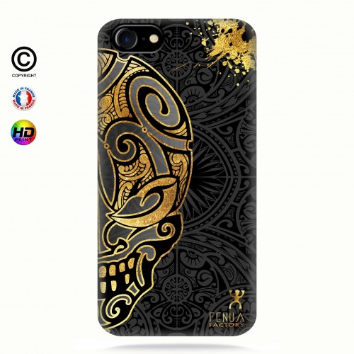coque iphone 7 Mid Gold Skulls