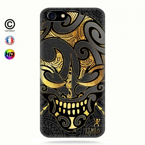 coque iphone 7 Big Gold Skulls