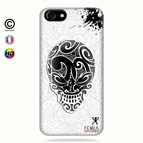 coque iphone 7 B&W Skulls