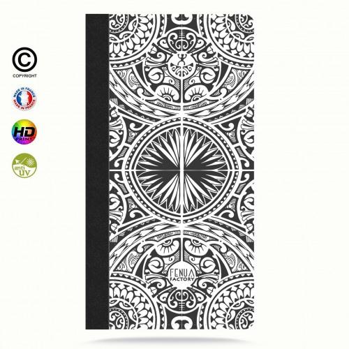 coque iphone 6-6s tribal frieze b&w