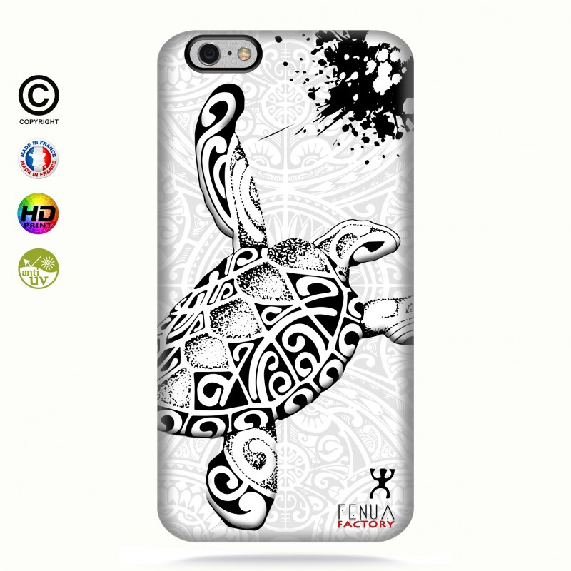 Coque iphone 6-6s Tortue B&W