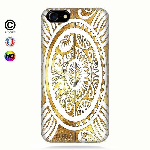 coque iphone 7 tribal cube gold +