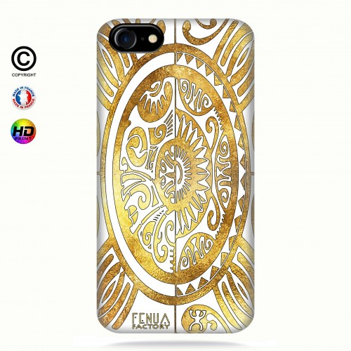 coque iphone 7 tribal cube gold