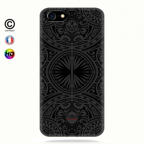coque iphone 6+/6s+ tribal frieze b&w +
