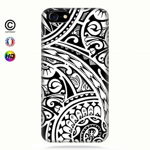 coque iphone 6+/6s+ tribal frieze b&w quart