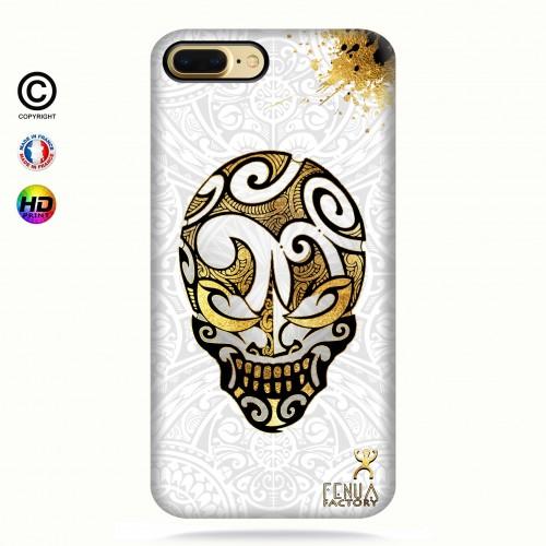 coque iphone 7 Gold Skulls