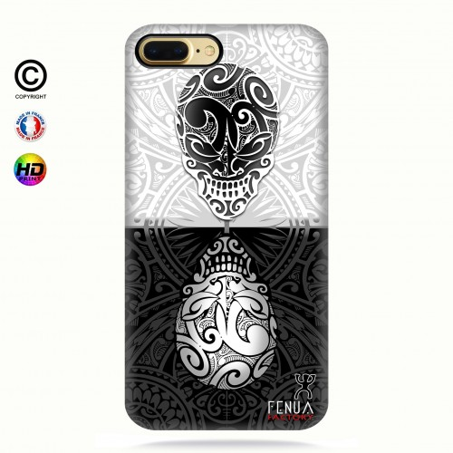 coque iphone 7 B&W Skulls Mirror