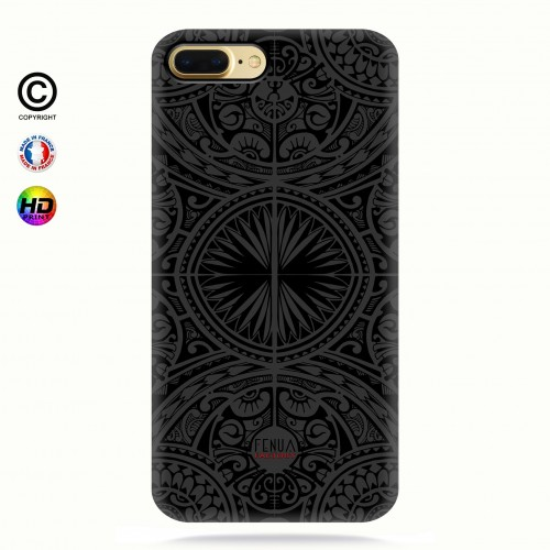 coque iphone 7+ tribal frieze b&w +