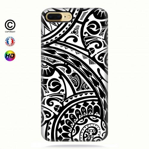 coque iphone 7+ tribal frieze b&w quart