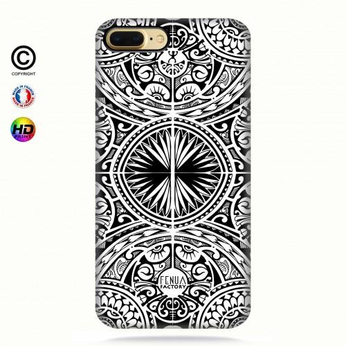 coque iphone 7+ tribal frieze b&w