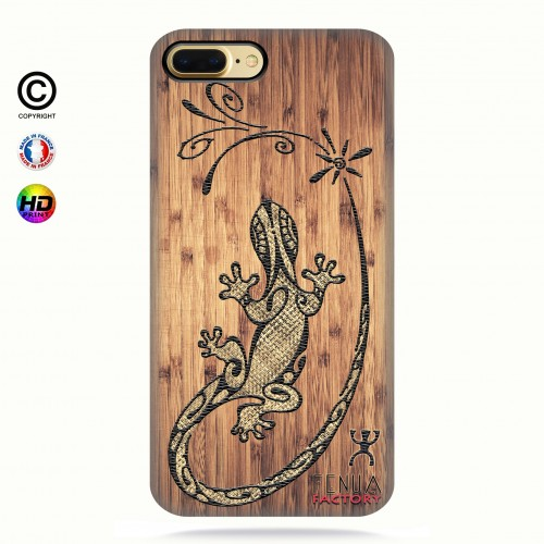 coque iphone 7 Tribal Bamboo Gecko