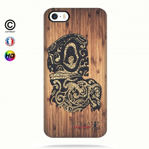 Coque iphone 5-5s-5se tribal bamboo tiki