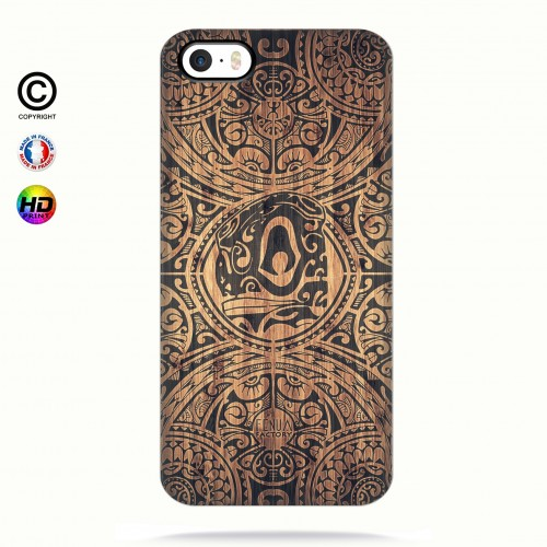 Coque iphone 5-5s-5se tribal tiki bamboo