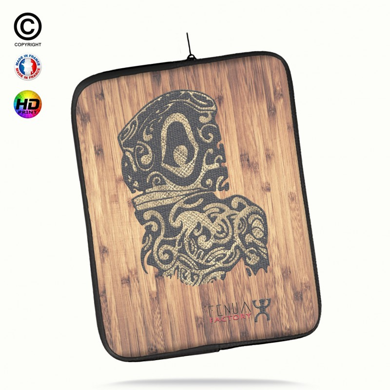 Housse universelle 12 pouces ipad Air 1-2-Pro 9.7 tribal bamboo tiki