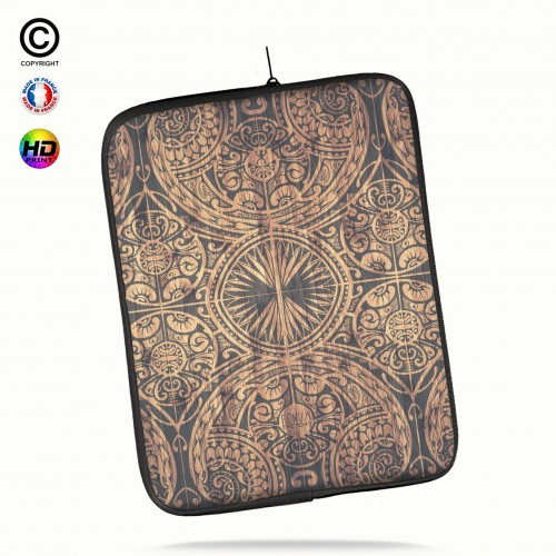 Housse universelle 12 pouces ipad 2-3-4 rétina tribal bamboo