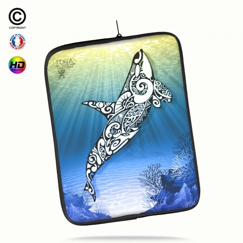 Housse universelle 12 pouces ipad Air 1-2-Pro 9.7 orca under the sea