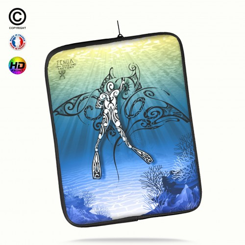 Housse universelle 12 pouces ipad Air 1-2-Pro 9.7 diving under the sea