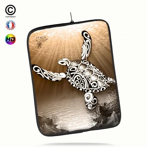 Housse universelle 12 pouces ipad 2-3-4 rétina turtle under the sea