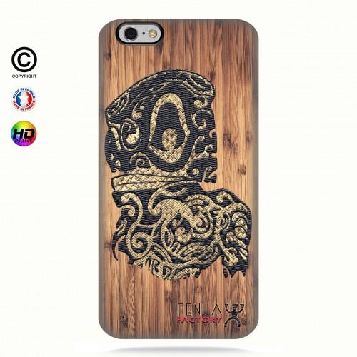 Coque iphone 6-6s tribal bamboo tiki