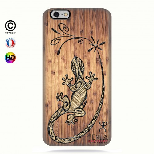 Coque iphone 6-6s tribal bamboo gecko