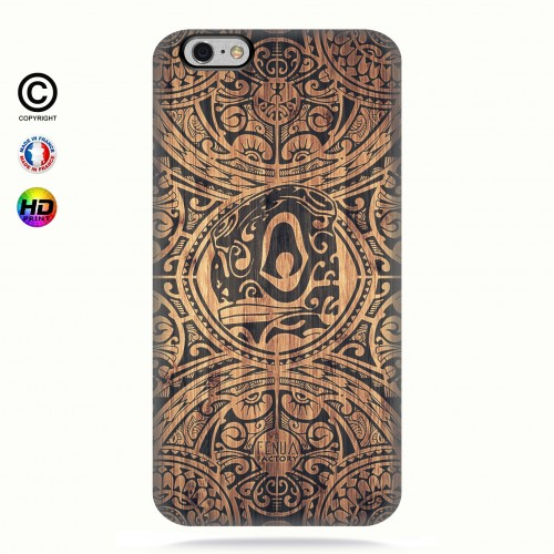 Coque iphone 6-6s tribal tiki bamboo