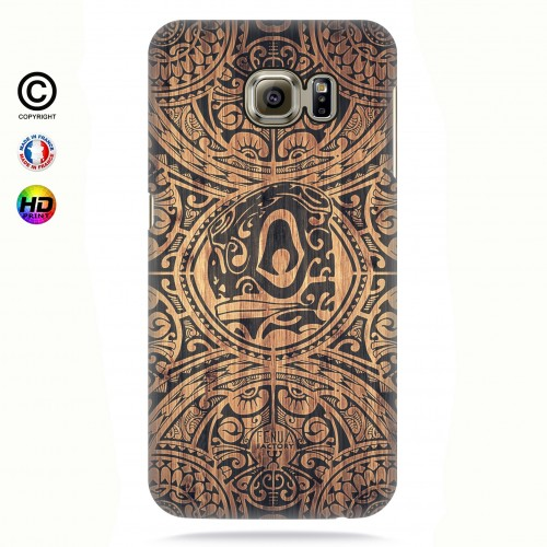 Coque galaxy s7 edge tribal tiki bamboo