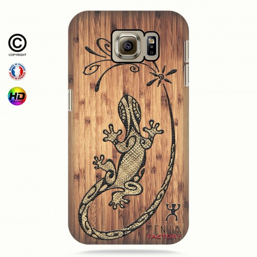 Coque galaxy s6 tribal bamboo gecko