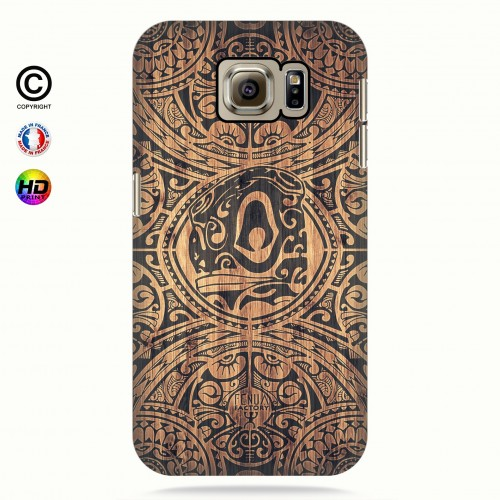 Coque galaxy s6 tribal tiki bamboo