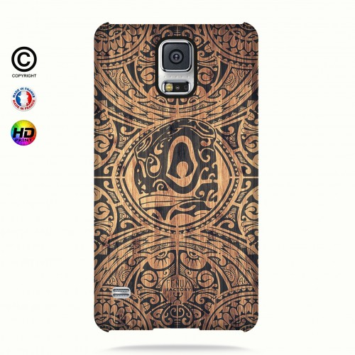 Coque galaxy s5 tribal tiki bamboo