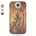 Coque galaxy s4 tribal bamboo gecko