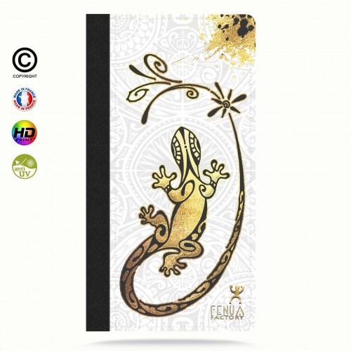 Etui Porte cartes galaxy S4 Gecko Gold