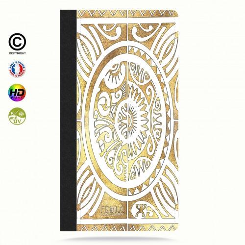 Etui Porte cartes galaxy S4 tribal cube gold +