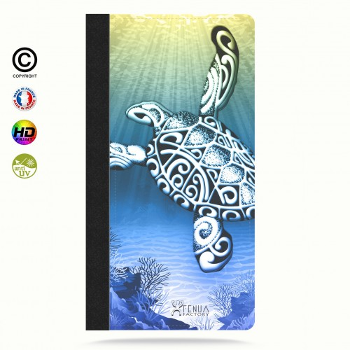 Etui Porte cartes galaxy S4 Turtle Under the Sea